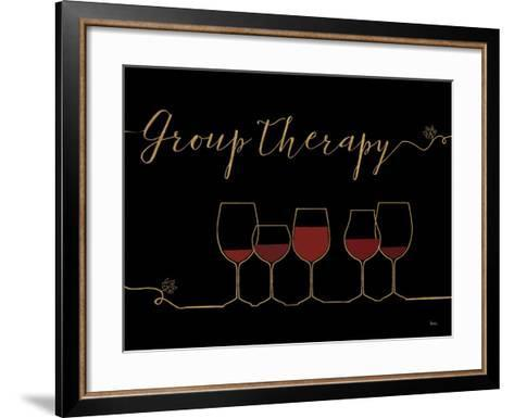 Underlined Wine IX Black-Veronique Charron-Framed Art Print