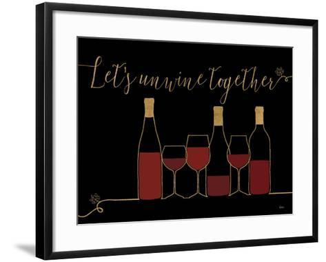 Underlined Wine X Black-Veronique Charron-Framed Art Print