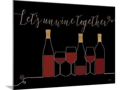 Underlined Wine X Black-Veronique Charron-Mounted Art Print