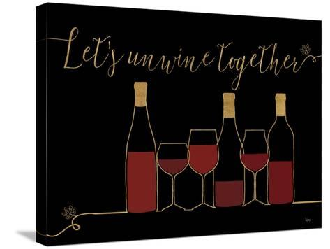 Underlined Wine X Black-Veronique Charron-Stretched Canvas Print