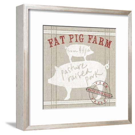 Farm Linen Pig-Sue Schlabach-Framed Art Print