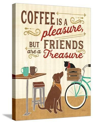 Coffee and Friends II-Veronique Charron-Stretched Canvas Print