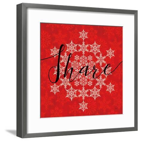 Holiday Charms II Red-Veronique Charron-Framed Art Print