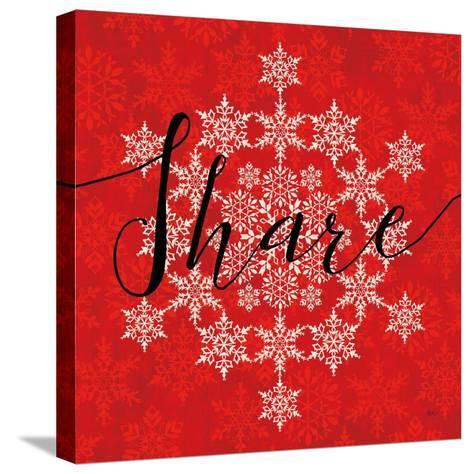 Holiday Charms II Red-Veronique Charron-Stretched Canvas Print