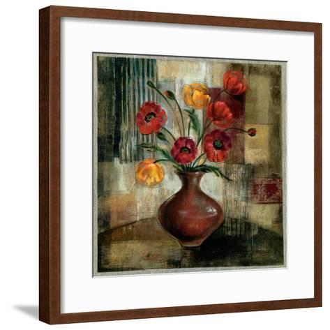 Poppies in a Copper Vase I-Silvia Vassileva-Framed Art Print