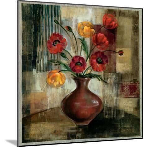 Poppies in a Copper Vase I-Silvia Vassileva-Mounted Art Print