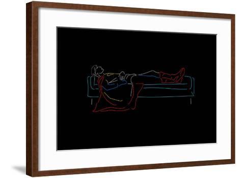 Sunday Superhero--Framed Art Print