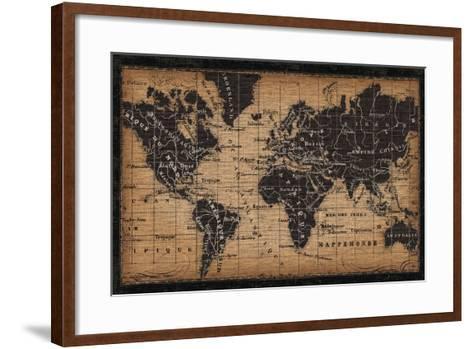 Old World Map--Framed Art Print