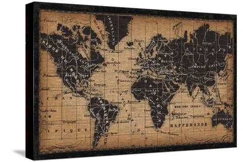 Old World Map--Stretched Canvas Print