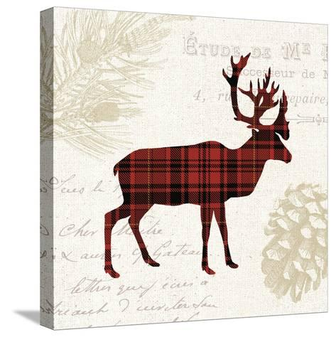Plaid Lodge I-Wild Apple Portfolio-Stretched Canvas Print