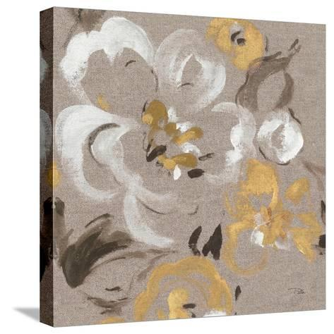 Brushed Petals II Gold--Stretched Canvas Print