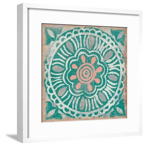 Ocean Tale Tile VI Coral--Framed Art Print