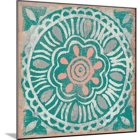 Ocean Tale Tile VI Coral--Mounted Art Print