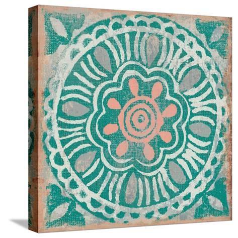 Ocean Tale Tile VI Coral--Stretched Canvas Print