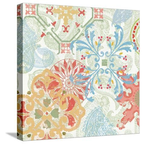Crimson Stamps II Spring--Stretched Canvas Print