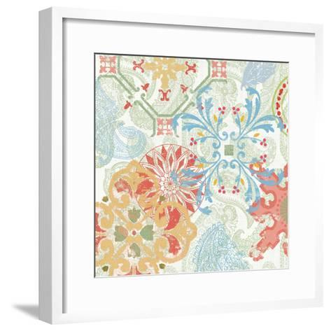 Crimson Stamps II Spring--Framed Art Print
