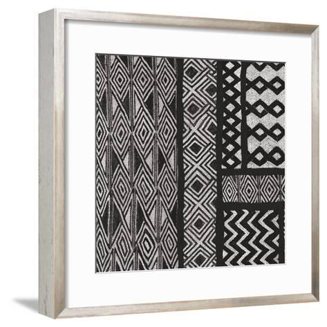 Kuba Abstract II BW-Sue Schlabach-Framed Art Print
