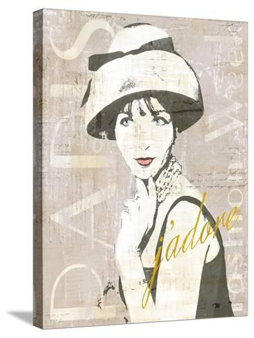 Fashion Week Paris Screenprint I-Sue Schlabach-Stretched Canvas Print