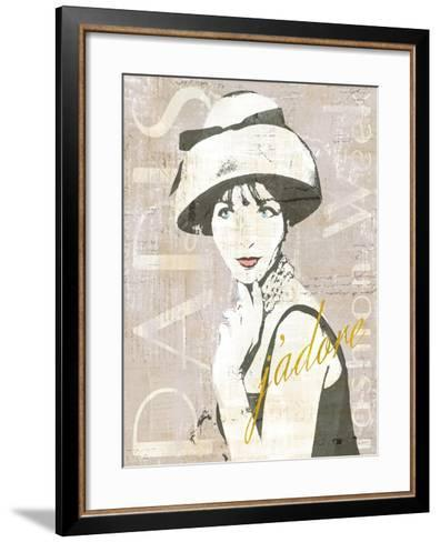 Fashion Week Paris Screenprint I-Sue Schlabach-Framed Art Print