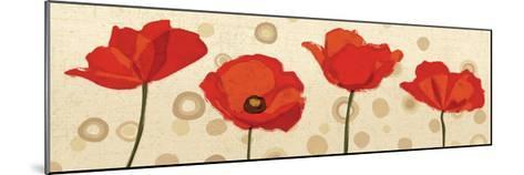 Poppies Dance III-Veronique Charron-Mounted Art Print