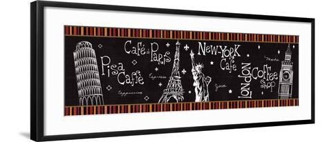 At the Cafe V-Veronique Charron-Framed Art Print