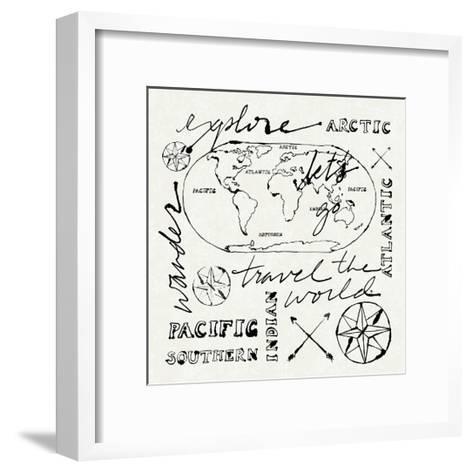 Mapped Shorelines II-Sue Schlabach-Framed Art Print