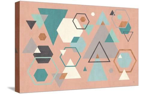 Abstract Geo I Pink-Veronique Charron-Stretched Canvas Print