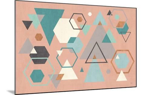 Abstract Geo I Pink-Veronique Charron-Mounted Art Print