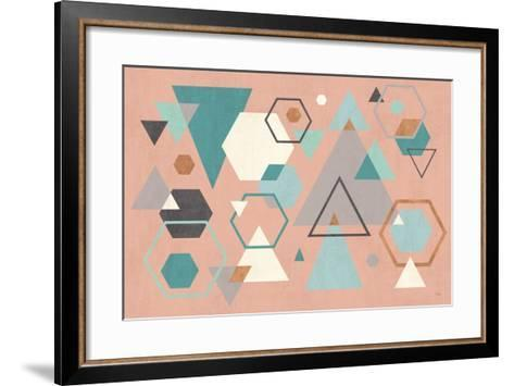 Abstract Geo I Pink-Veronique Charron-Framed Art Print