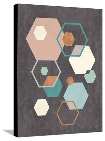 Abstract Geo III Black-Veronique Charron-Stretched Canvas Print