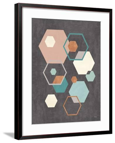 Abstract Geo III Black-Veronique Charron-Framed Art Print