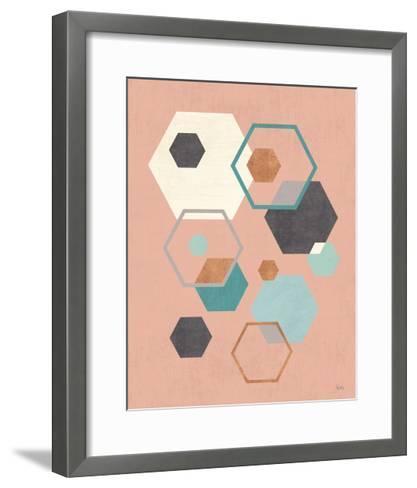 Abstract Geo III Pink-Veronique Charron-Framed Art Print