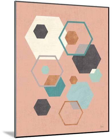 Abstract Geo III Pink-Veronique Charron-Mounted Art Print