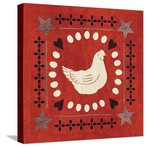 Little Red Farm Tile III-Veronique Charron-Stretched Canvas Print