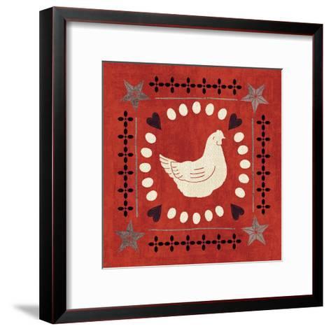 Little Red Farm Tile III-Veronique Charron-Framed Art Print
