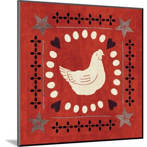Little Red Farm Tile III-Veronique Charron-Mounted Art Print