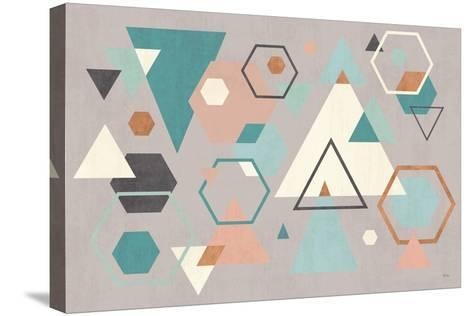 Abstract Geo I Gray-Veronique Charron-Stretched Canvas Print