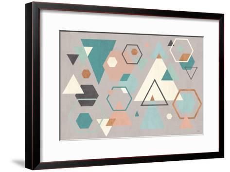 Abstract Geo I Gray-Veronique Charron-Framed Art Print