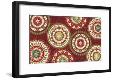 Simply Christmas V Dark-Veronique Charron-Framed Art Print