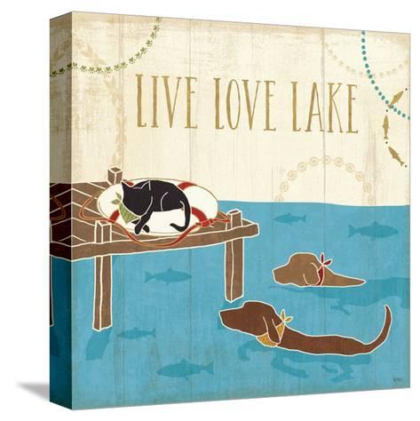 Lake Pals V-Veronique Charron-Stretched Canvas Print