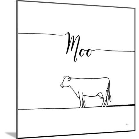 Underlined Farm VII-Veronique Charron-Mounted Art Print