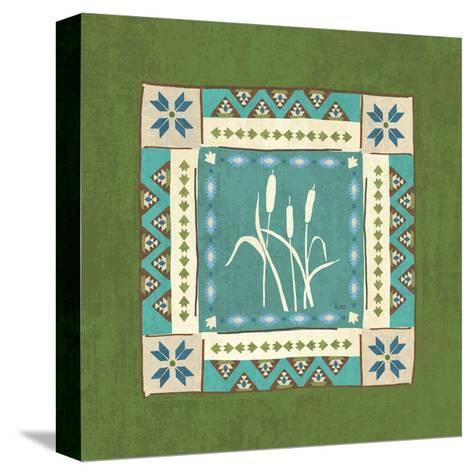 Lake Retreat Tile IV-Veronique Charron-Stretched Canvas Print