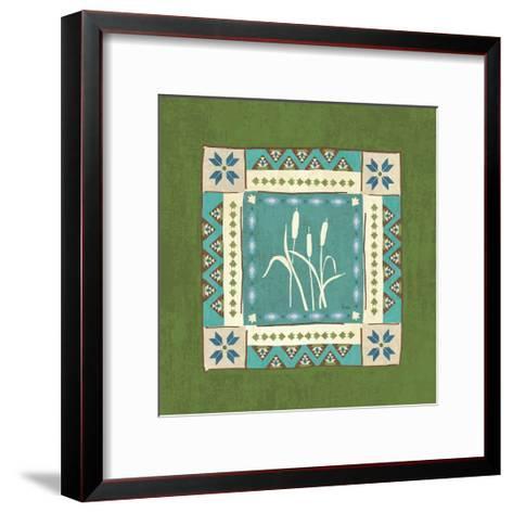 Lake Retreat Tile IV-Veronique Charron-Framed Art Print