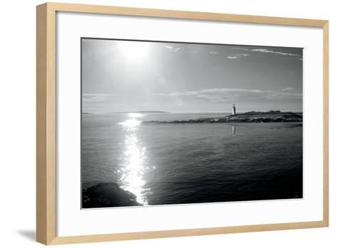 Lighthouse Sound Black and White-Sue Schlabach-Framed Art Print