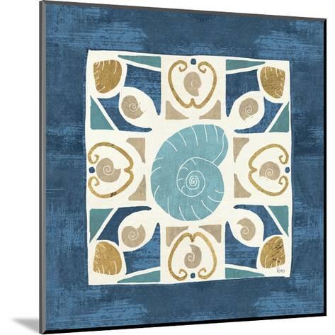 Undersea Blue Tile IV-Veronique Charron-Mounted Art Print
