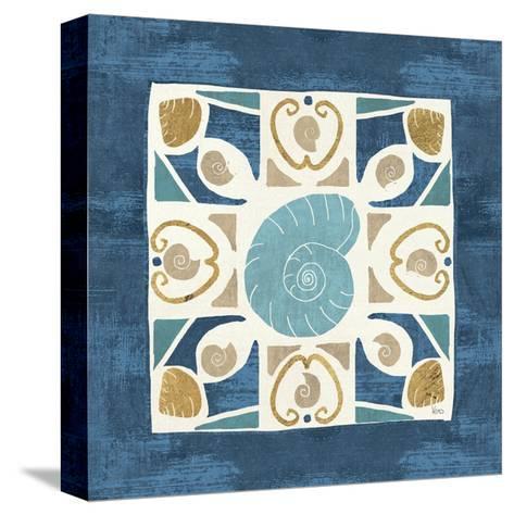 Undersea Blue Tile IV-Veronique Charron-Stretched Canvas Print