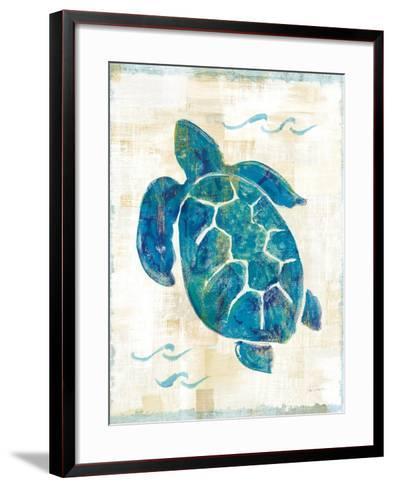 On the Waves IV No Script-Sue Schlabach-Framed Art Print