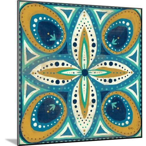 Proud as a Peacock Tile II-Veronique Charron-Mounted Art Print