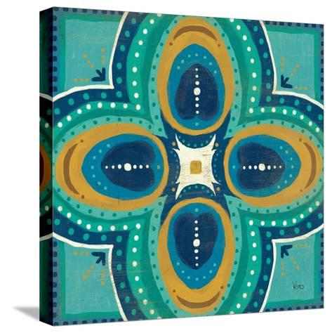 Proud as a Peacock Tile IV-Veronique Charron-Stretched Canvas Print