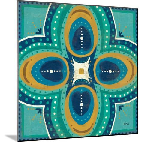 Proud as a Peacock Tile IV-Veronique Charron-Mounted Art Print